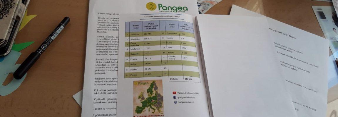 PANGEA …matematická soutěž